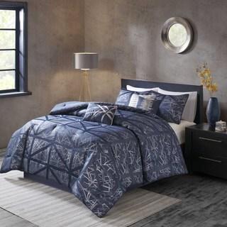 Madison Partk Nico Navy Blue Comforter 7 Piece Set