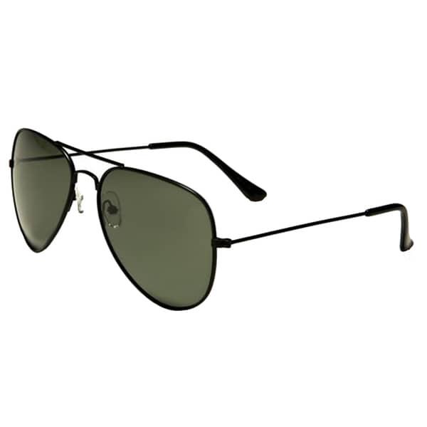 Mechaly Black Unisex Aviator Sunglasses