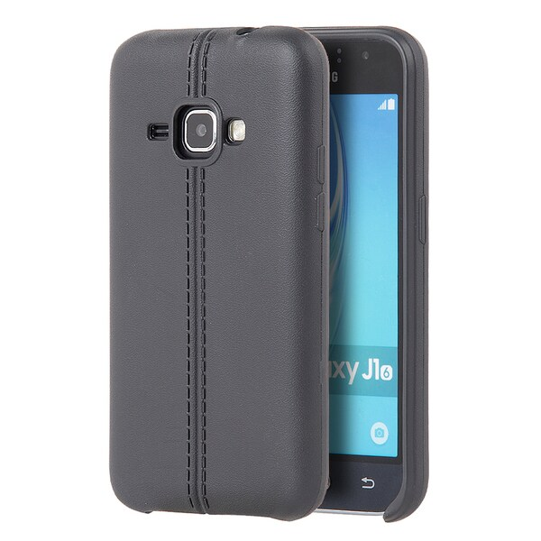 Samsung Galaxy Amp 2 Black Slim Leather Jacket Case