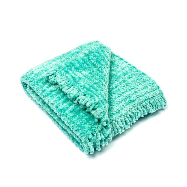 Pashmere Baby Sky Blue Chenille Baby Blanket