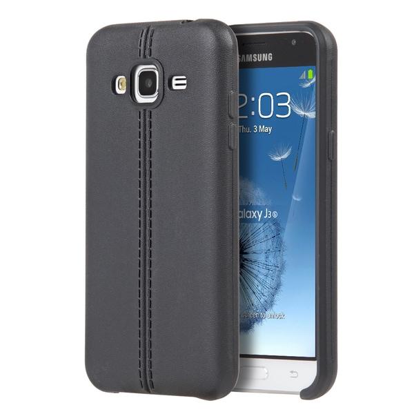 Samsung Galaxy Amp Prime J3 (2016)/J320P Leatherette Slim Jacket Case 19726520