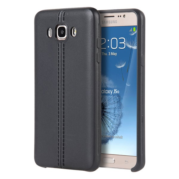Samsung Galaxy J5(2016) J510M Slim Jacket TPU Black Leather Case