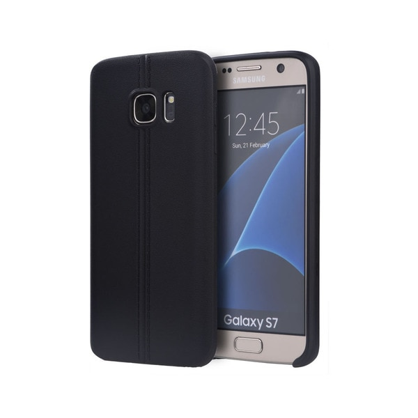 Samsung Galaxy S7 Slim Jacket TPU Case with Leather Finish