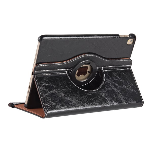 Apple iPad Pro Leather 9.7-inch 360-degree Rotating Stand Flip Case With Strap