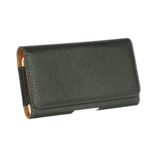 Mega 6.3 LG G Flex ZTE Max Black Leatherette/Neoprene Horizontal Pouch
