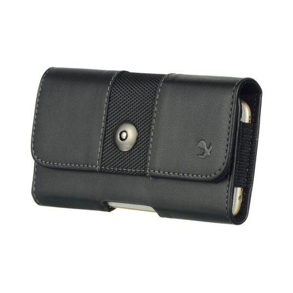 Samsung Galaxy Note Black Leatherette Horizontal Pouch