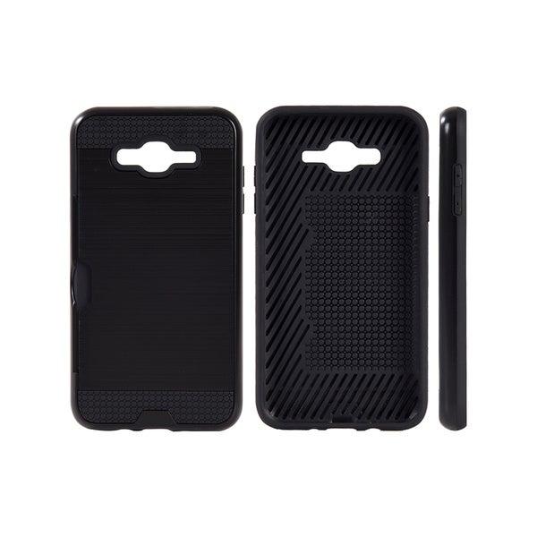Samsung Galaxy J7 Hybrid Card Black To-Go Case