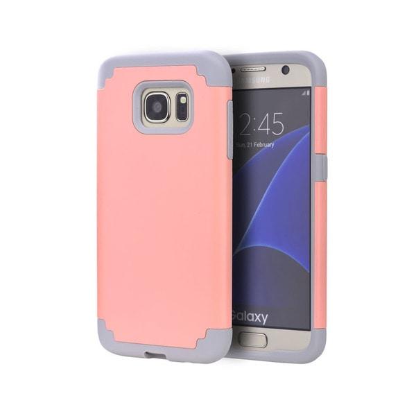 Samsung Galaxy S7 Grey and Light Pink Skin Hybrid Case