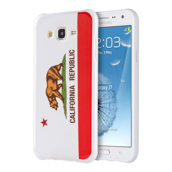 Samsung Galaxy J7 -2015 TPU IMD California Republic Case