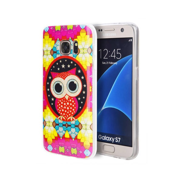 Glitter Colorful Owl Samsung Galaxy S7 Case