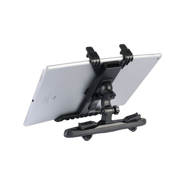 Black Universal 360-degree Car Seat Mount/Holder for 7-inch to 10-inch Tablets