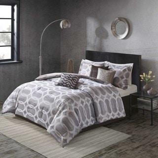 Madison Partk Matteo Neutral Comforter 7 Piece Set