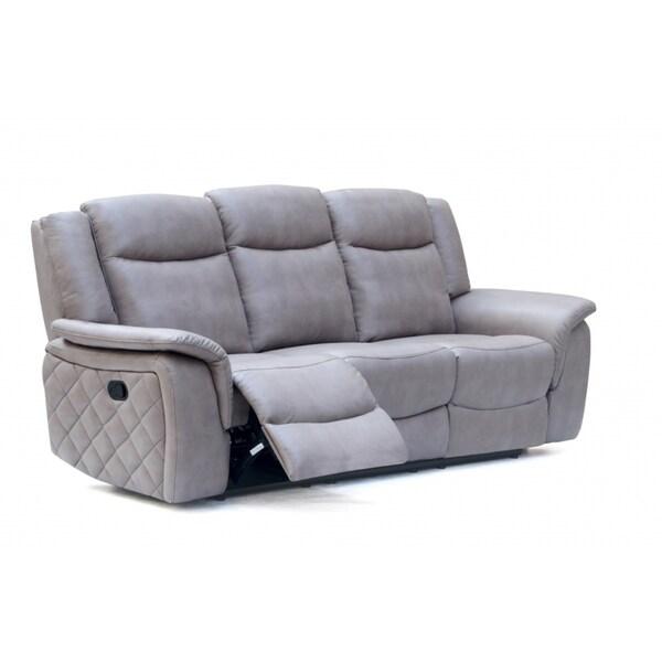 Meridian Carly Grey Leather Sofa