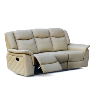 Meridian Carly Taupe Leather Sofa