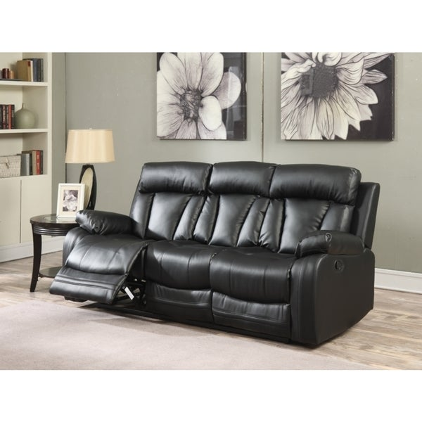 Meridian Avery Black Leather Sofa