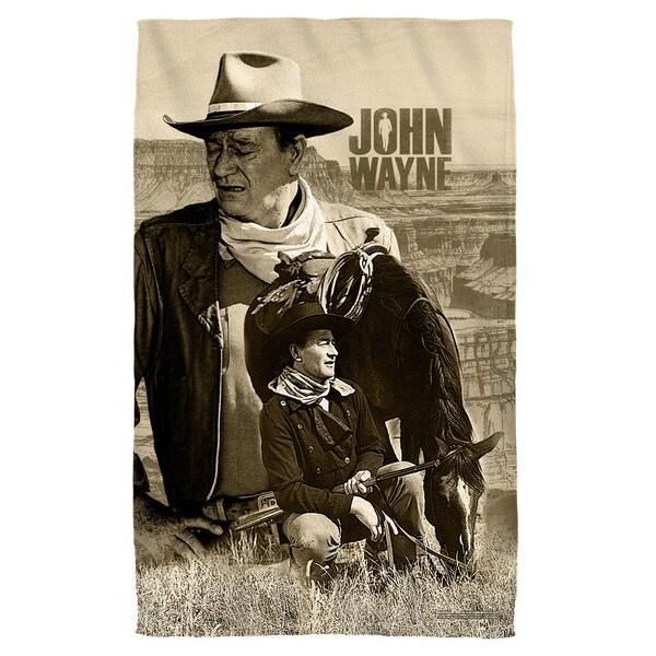 John Wayne/Stoic Cowboy Bath Towel