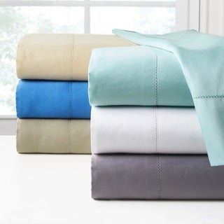 Pointehaven 410 Thread Count Long Staple Cotton Oversized Bed Sheet Set