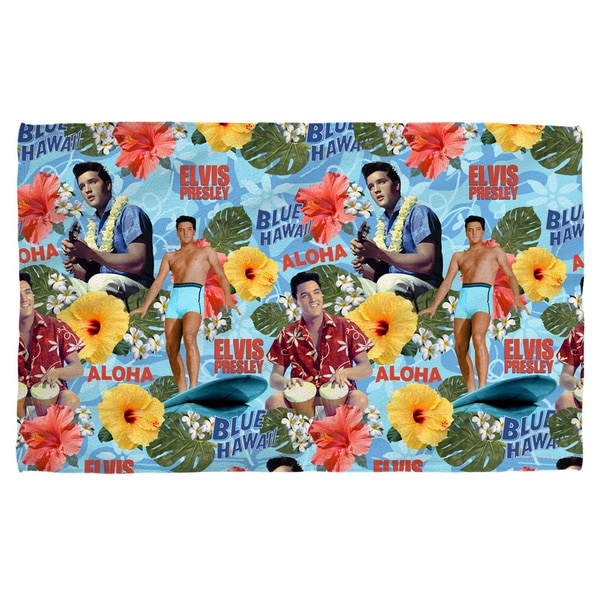 Elvis/Blue Hawaii Bath Towel