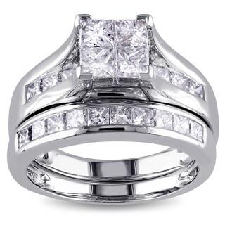 Miadora Signature Collection 14k White Gold 2ct TDW Diamond Bridal Set (G-H, I1-I2)