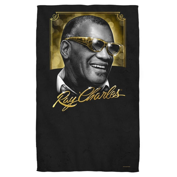 Ray Charles/Golden Glasses Bath Towel 19728028