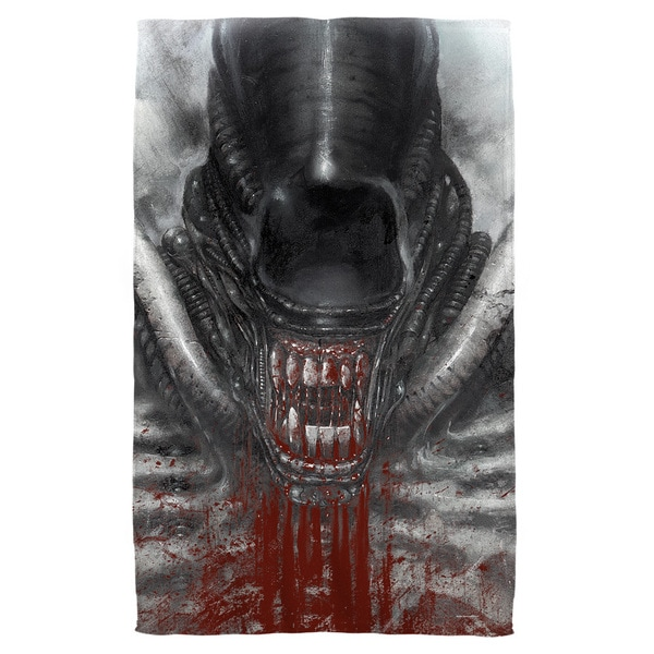 Alien/Blood Drool Bath Towel