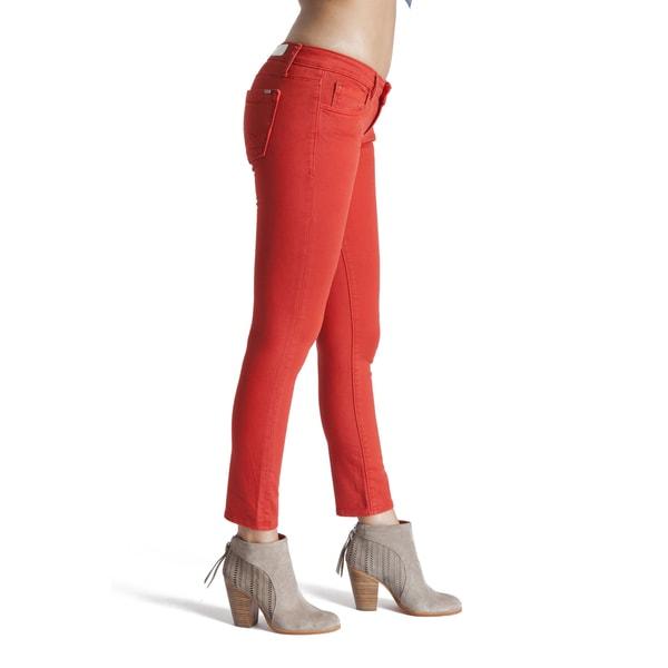Denim Red Teaser Crop Skinny Jeans