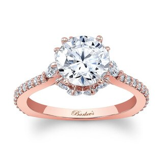 Barkev's Designer 14k Rose Gold 2ct TDW Diamond Engagement Ring (F-G, SI1-SI2)
