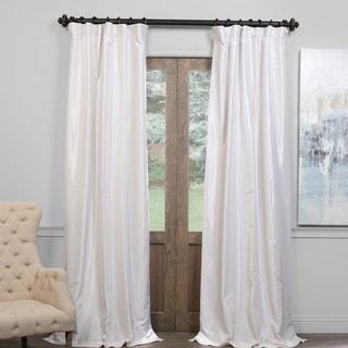 Exclusive Fabrics True Blackout Vintage Textured Faux Dupioni Silk Curtain Panel