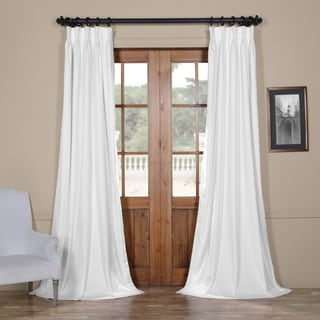 Exclusive Fabrics Signature Pleated Blackout Solid-patterned Velvet Curtain