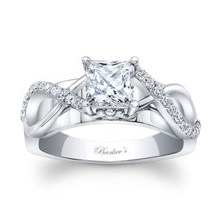 Barkev's Designer 14k White Gold 1ct TDW Princess-cut Engagement Ring (F-G, SI1-SI2)
