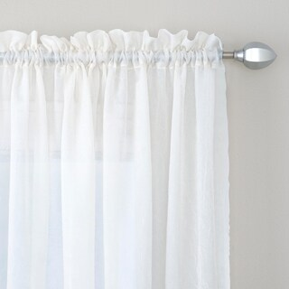 Miller Curtains Preston 95-inch Rod Pocket Sheer Polyester Curtain Panel