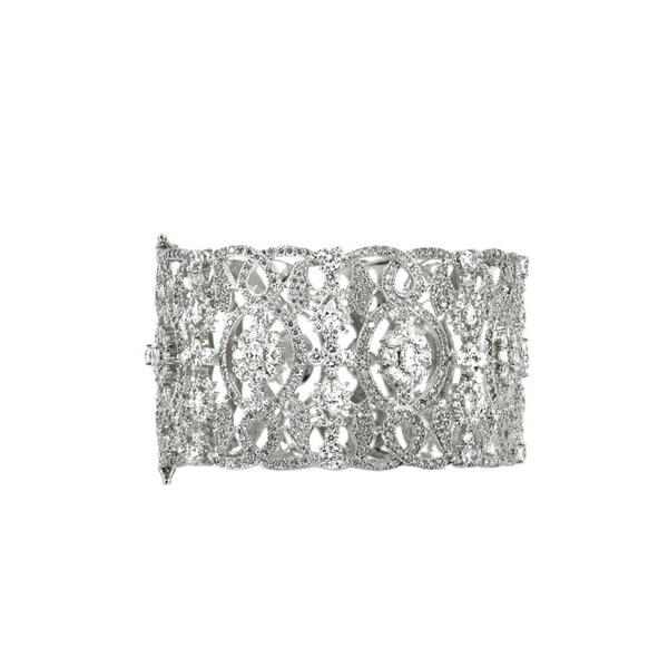 Fancy CZ Cuff Bracelet