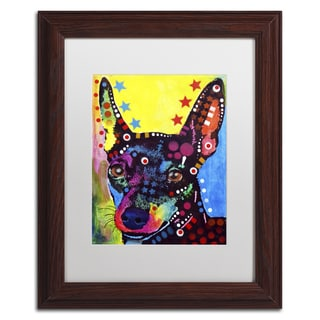 Dean Russo 'Miniature Pinscher' Matted Framed Art