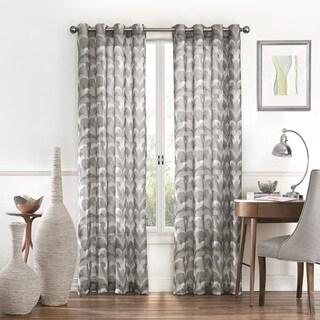 Eclipse Amadora Ikat Light Filtering Sheer Curtain Panel