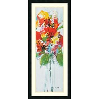 Framed Art Print 'Sensations I: Floral' by Natasha Barnes 18 x 42-inch