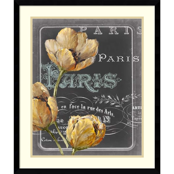 Framed Art Print 'Chalkboard Paris II' by Studio W 21 x 25-inch