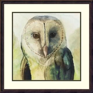 Framed Art Print 'Harlequin Hibou I Owl' by Grace Popp 25 x 25-inch