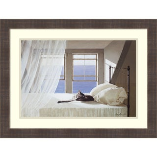Framed Art Print 'Nap Time' by Zhen-Huan Lu 24 x 18-inch