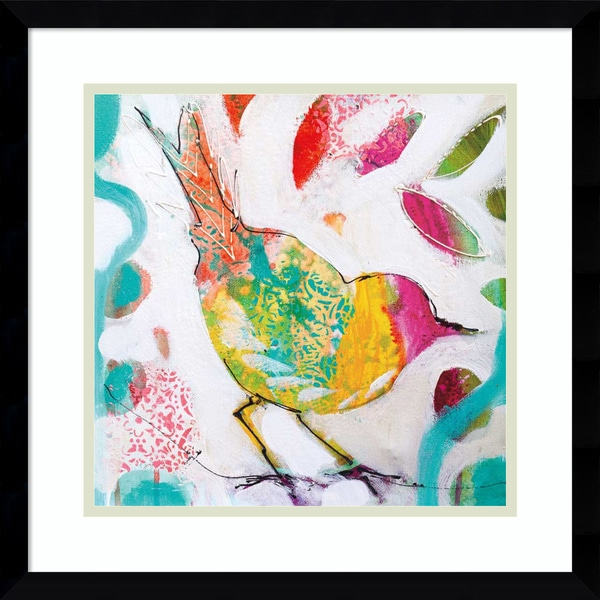 Framed Art Print 'Petite Bird IV' by Amanda J. Brooks 17 x 17-inch