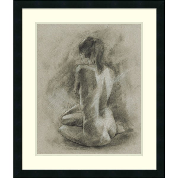 Framed Art Print 'Charcoal Figure Study II' by Ethan Harper 19730093