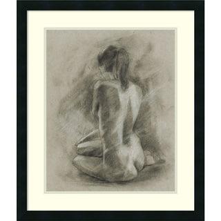 Framed Art Print 'Charcoal Figure Study II' by Ethan Harper 23 x 27-inch