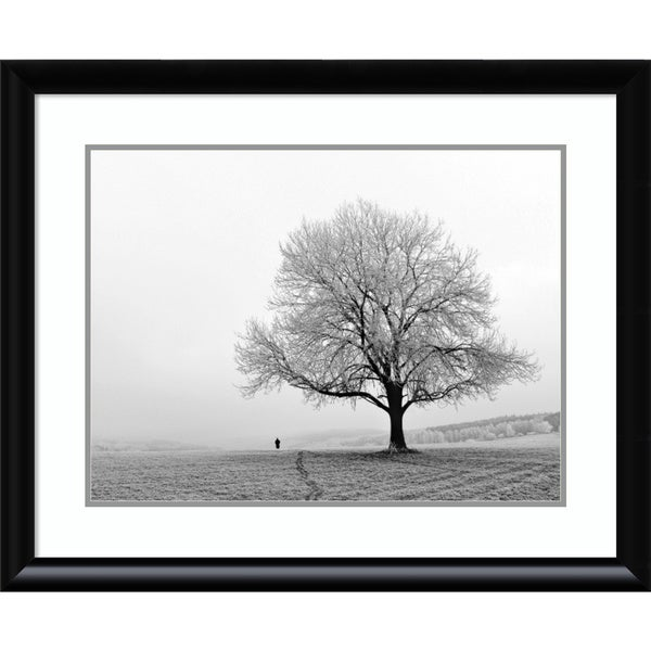 Framed Art Print 'Serenity' by Ilona Wellmann 33 x 27-inch