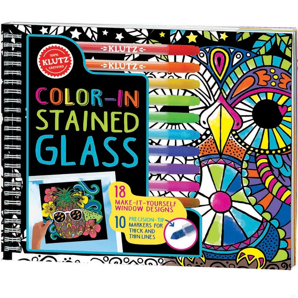 Color-In Stained Glass Book Kit