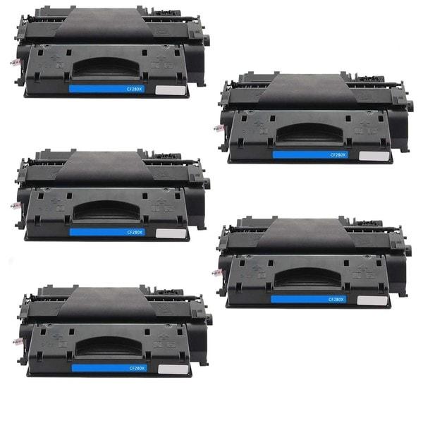 5PK Compatible CF280X Toner Cartridge For HP LaserJet Pro 400 M401dn , 400 M401dne , 400 M401dw , 400 M401n ( Pack of 5 )