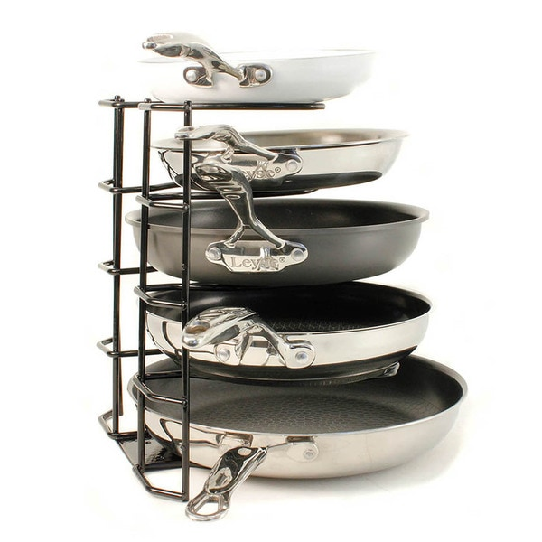 Kinetic GoGreen Black Brushed Steel Wire Pan Organizer and Storage Unit