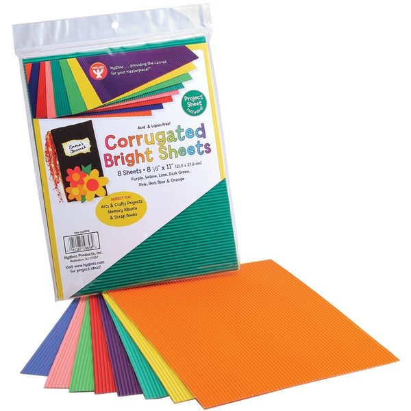 "Corrugated Sheets 8.5""X77"" 8/Pkg 19730766"