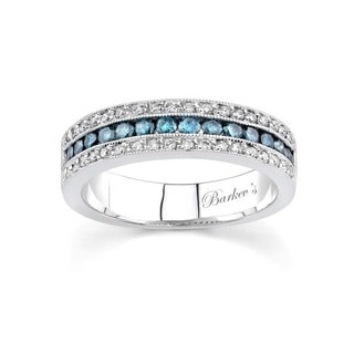 Barkev's Designer 14k White Gold 5/8ct TDW Diamond White Gold Band