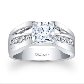Barkev's Designer 14k White Gold 5/8ct TDW Diamond Engagement Ring (F-G, SI1-SI2)