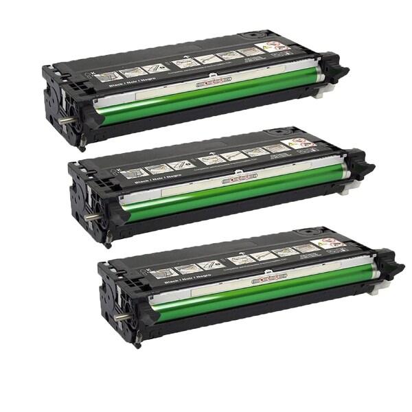 3PK Dell 3130 BK Compatible Black Toner Cartridge Dell 3130 3130CN (Pack of 3)
