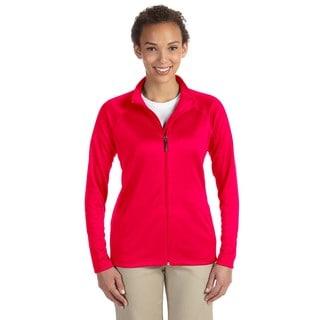 Stretch Women's Tech-Shell Compass Full-Zip Red Jacket